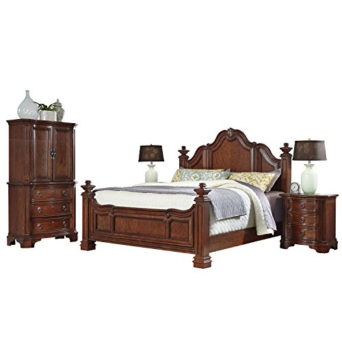 Elegant European Style Mahogany Wood Bedroom Set