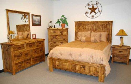 Very Cool 5 Piece Reclaimed Wood Look King Bedroom Set