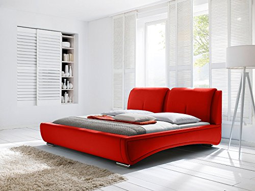 Modern Platform Bed in Bright Red