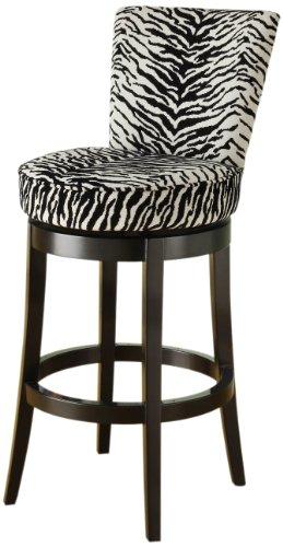 Cool Zebra Fabric Swivel Bar Stool