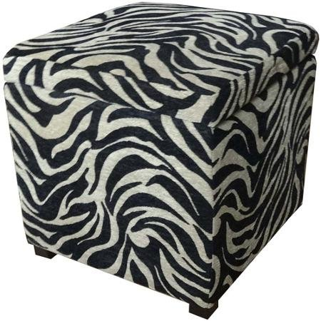 Beautiful Zebra Print Ottoman