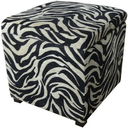 Beautiful Zebra Print Ottoman