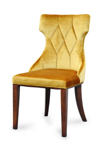 Antique Gold Velvet Dining Chairs
