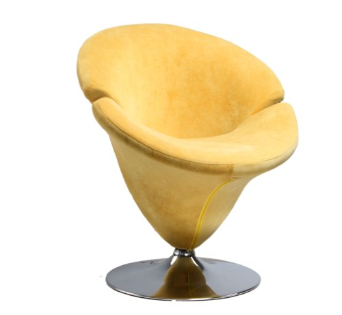 Cute Yellow Tulip Flower Shaped Leisure Chair