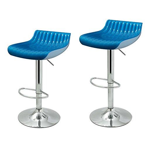 Modern Bright Blue Glossy Bar Counter Stools