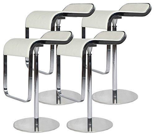 Modern Design Top Italian Leather Piston Bar Stools