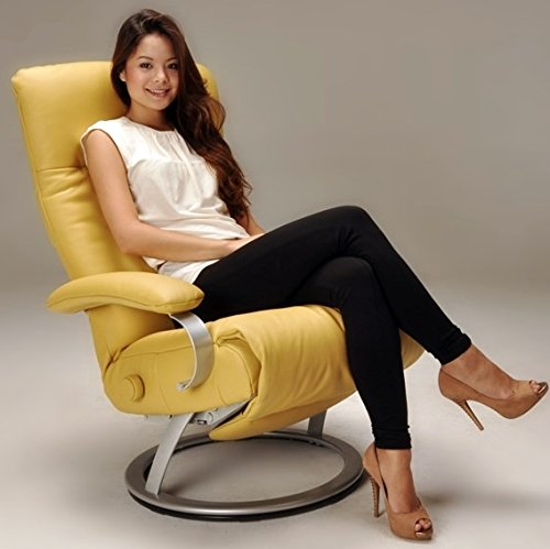Stylish Yellow Leather Recliner