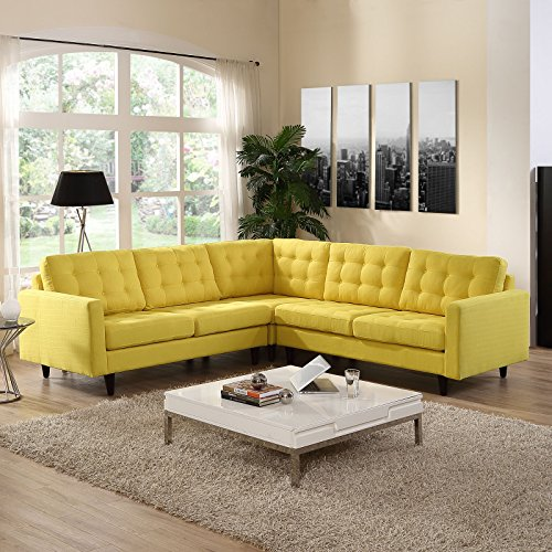 Fun sunny yellow living room furniture ideas for Fun living room furniture