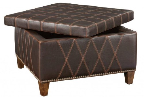 Classic Dark Brown Storage Ottoman