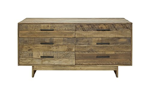 Rustic Style Reclaimed Wood 6 Drawer Dresser