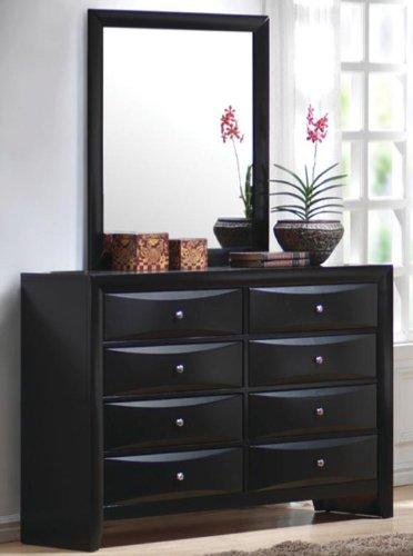 Black Bedroom Dresser and Mirror
