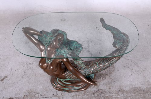 Mermaid Table with Glass Top