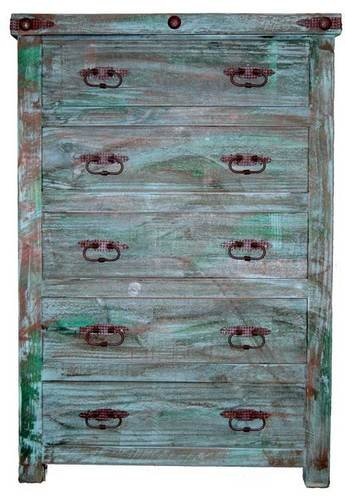 Beautiful Painted Reclaimed Wood Chest of Drawers