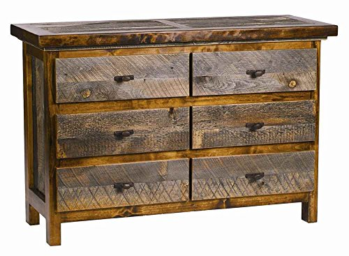 6 Drawer Rustic Reclaimed Wood Dresser
