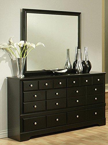 Fancy Looking Black Dresser with Mirror