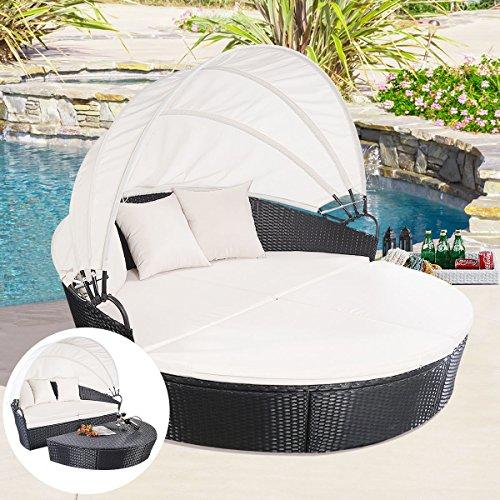 Beautiful Circular White Daybed Sofa