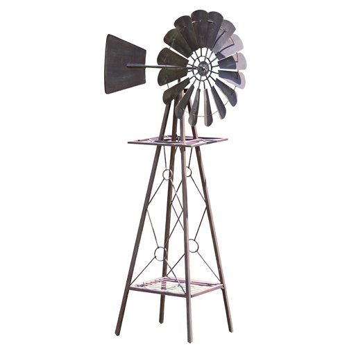Decorative Rustic Metal Windmill for the Garden