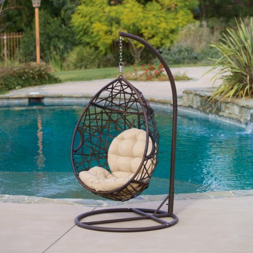 Cool Looking Egg-Shaped Outdoor Swing Chair