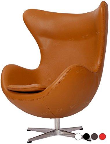 Arne Jacobsen Leather Light Brown Egg Chair