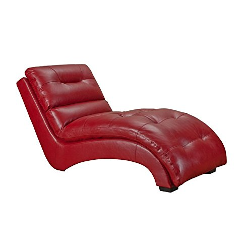 Red Leather Relax Chaise