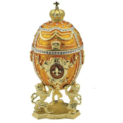 Faberge Style Musical Egg Box