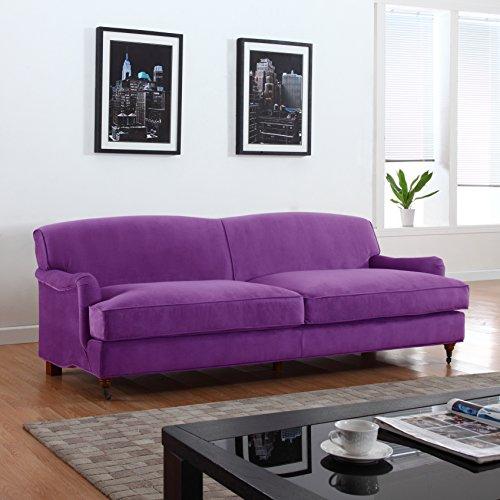 Traditional Purple Sofa