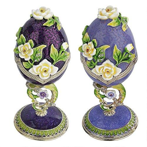 Purple Floral Faberge Egg Boxes