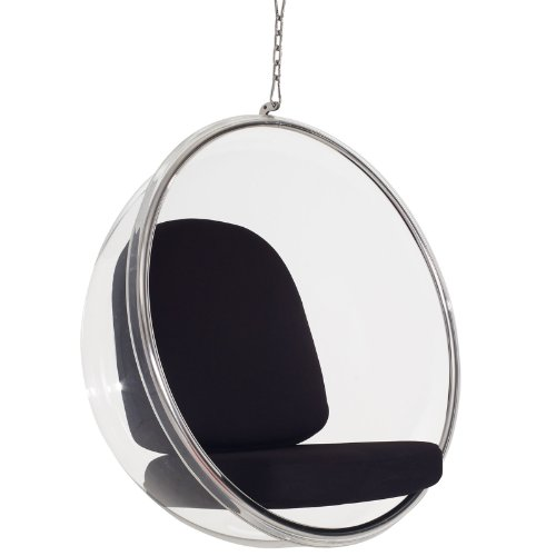 Bubble Chair With Black Pillows