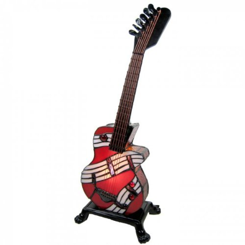 Tiffany Style Electric Guitar Table Lamp