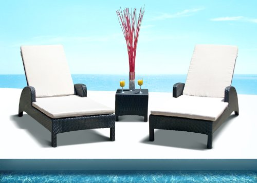 Outdoor Recliner Chair Set