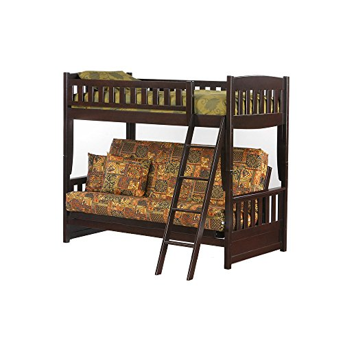 Gorgeous Futon Bunk Bed In Chocolate Finish