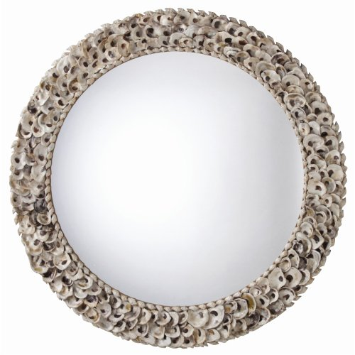 Authentic Oyster Shells Decorative Round Mirror