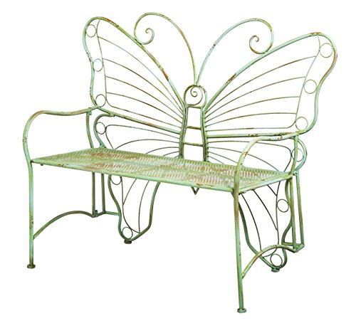 Cute Butterfly Shape Metal Bench