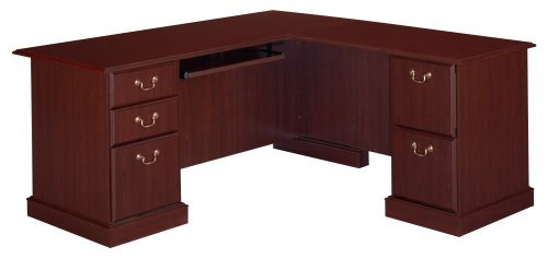 Practical L-shaped Home Office Desk