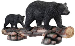 Cute Mother Bear and Cub Statue