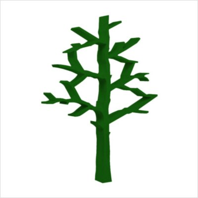 Cute Tree Shape Green Bookcase