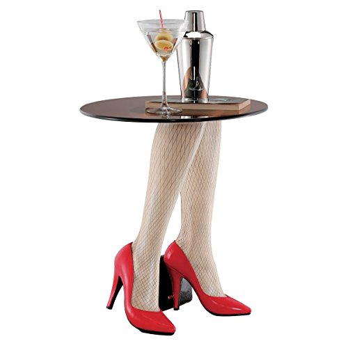 Woman's Legs and Red Heels Accent Table