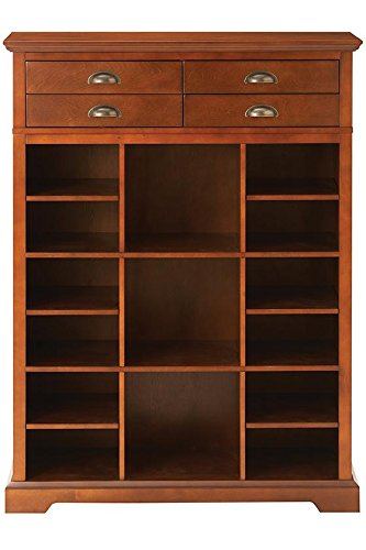 Beautiful Chestnut Shoe Storage Organizer With Drawers