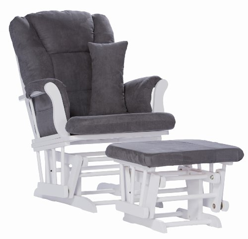 Affordable Glider and Ottoman with Free Lumbar Pillow