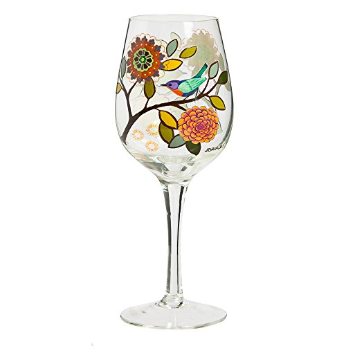 Floral Decorated Wineglasses