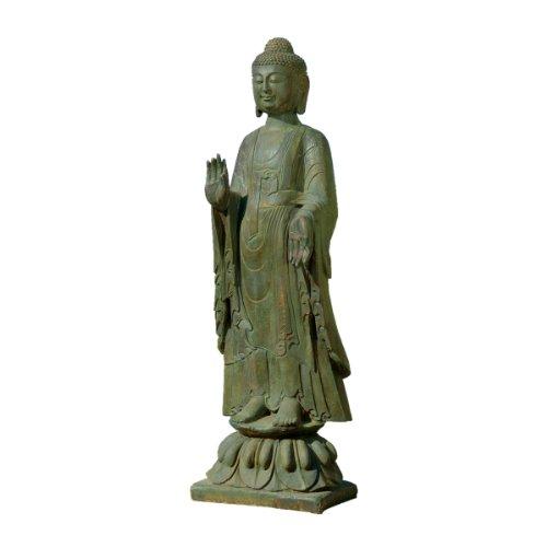 Standing Asian Buddha Outdoor Sculpture