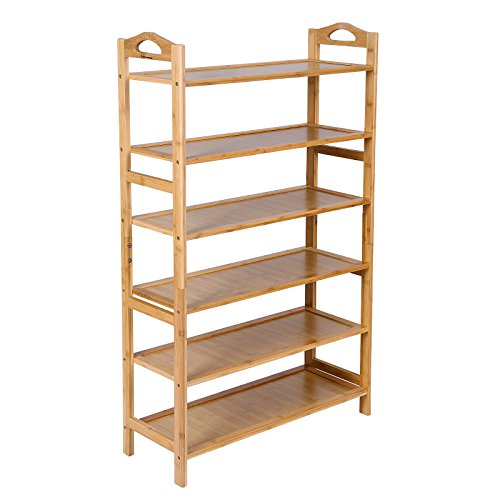6-tier Bamboo Shoe Rack Organizer