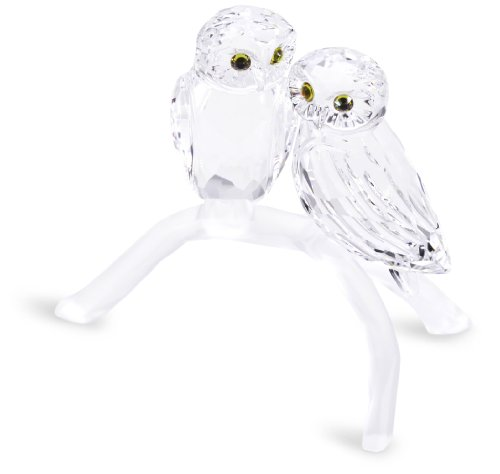 Cute Swarovski Crystal Owls On Branch