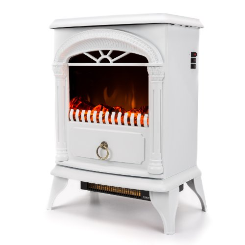 Cute Portable White Electric Fireplace