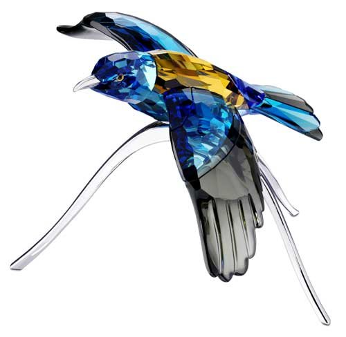 Beautiful Blue Turquoise Crystal Bird Figurine