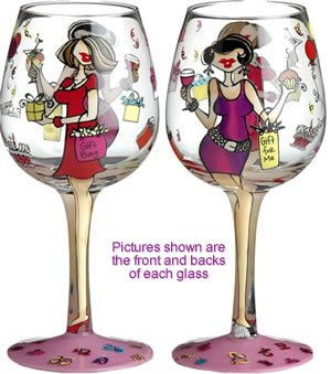 Beautiful Hand Painted Wine Glasses