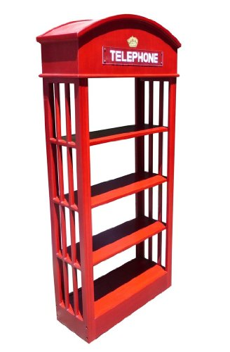 London Telephone Booth Bookcase