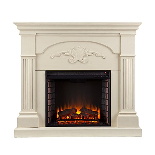 Beautiful Ivory Color Electric Fireplace