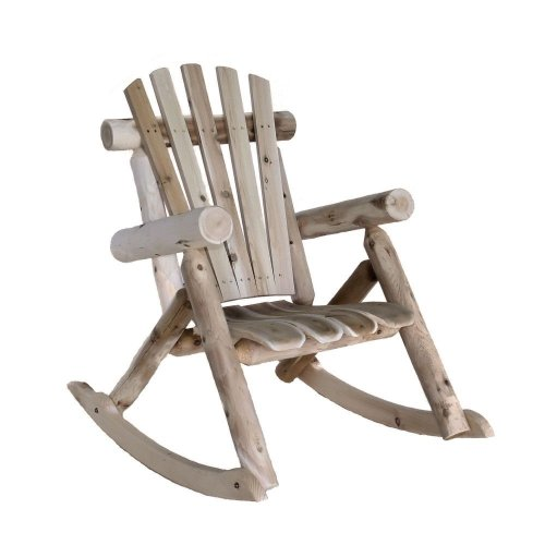 Log Rocking Chair, Natural