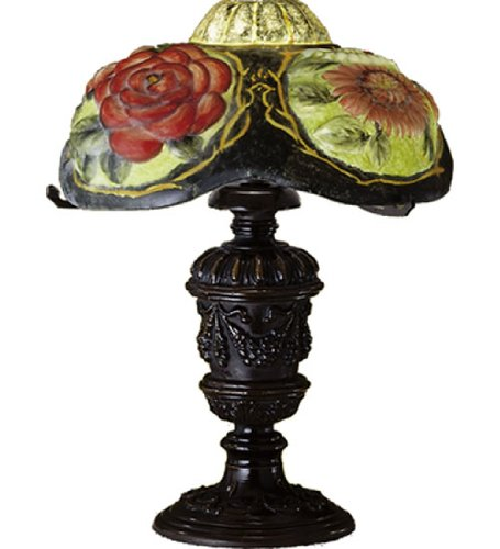 Unique Puffy Oxford Floral Table Lamp